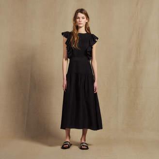 1dfb5cff595 Sandro Flowing sleeveless long dress