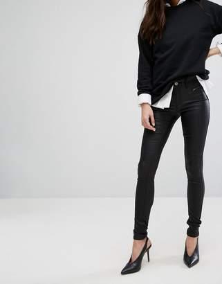 Vila Coated Skinny Jeans