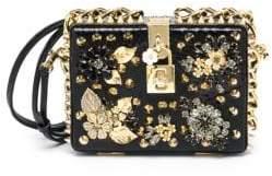 Dolce & Gabbana Embellished Crocodile& Ayers Box Clutch