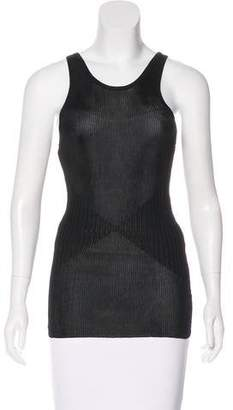 Herve Leger Sleeveless Rib Knit Top