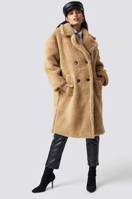 Chloé B X Na Kd Teddy Oversized Jacket Beige