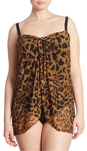 Lauren Ralph LaurenLauren Ralph Lauren Plus Cheetah-Print Tankini