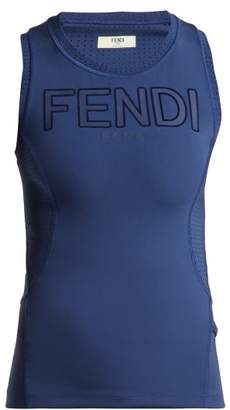 Fendi Roma Logo Tank Top - Womens - Navy