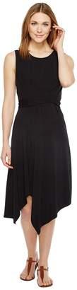 Mod-o-doc Cotton Modal Spandex Jersey Faux Wrap Tie Back Dress Women's Dress