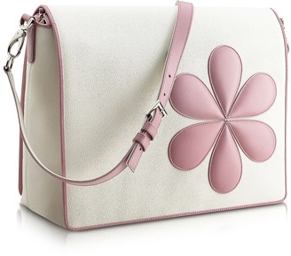 Pineider Pink Flower Messenger Changing Bag