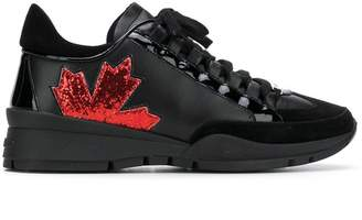 DSQUARED2 glitter maple leaf sneakers