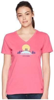 Life is Good Vista Hike Crusher Vee Tee Women's T Shirt