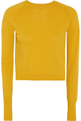 DKNY - Cropped Knitted Sweater - Mustard $180 thestylecure.com