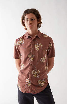 Rhythm Cantina Linen Short Sleeve Button Up Camp Shirt