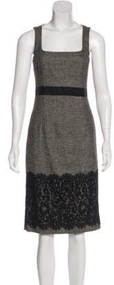 Michael Kors Wool-Blend Embellished Dress