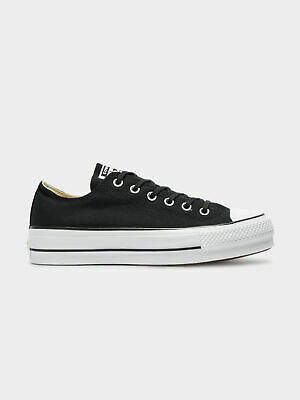 Converse New Chuck Taylor All Star Lift Low Top Sneakers In Black White Womens