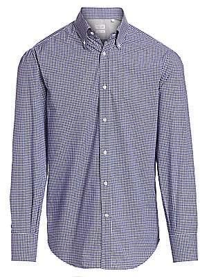 Brunello Cucinelli Men's Check Button-Down Shirt