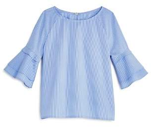 Aqua Girls' Striped Poplin Top, Big Kid - 100% Exclusive