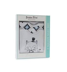 Bubba Blue Mr Fox 3 Pack Bib Gift Box
