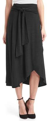 Softspun knit midi wrap skirt $59.95 thestylecure.com