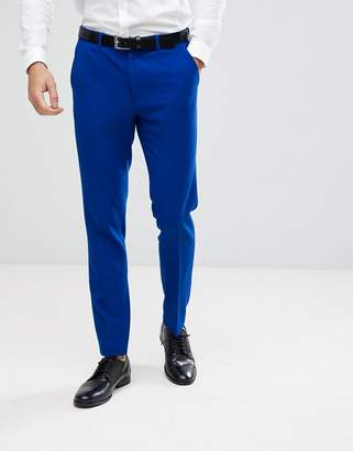 Asos Design Skinny Suit Pants In Bright Blue