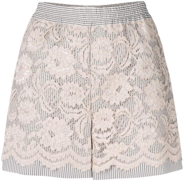 Miahatami Shorts mit floraler Spitze