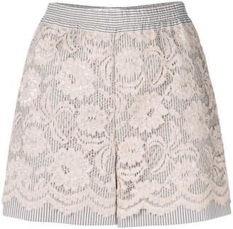 Miahatami floral lace shorts