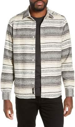 Jeff Benson Slim Fit Marl Stripe Sport Shirt