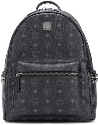 MCM logo print studded backpack