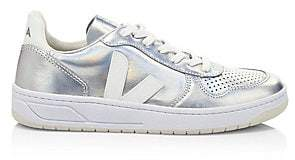Veja Women's V-10 Unicorn Leather Low-Top Sneakers