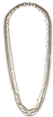 David Yurman Pearl & Mixed Chain Multistrand Necklace