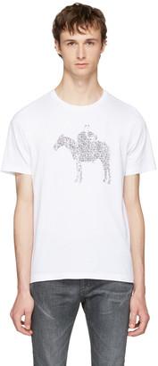 Maison Margiela White Pony Kid T-Shirt $280 thestylecure.com