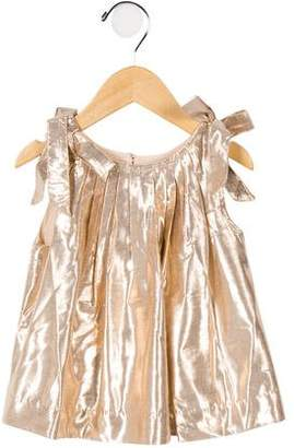 Velveteen Girls' Catherine Bow-Tie Shoulder Dress w/ Tags
