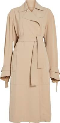 Victoria Beckham Wrap Sleeve Fluid Trench Coat