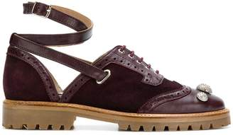 Rue St ankle strap brogue shoes