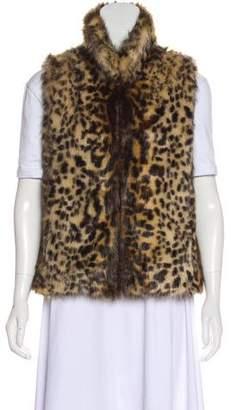 Adrienne Landau Faux-Fur Printed Vest