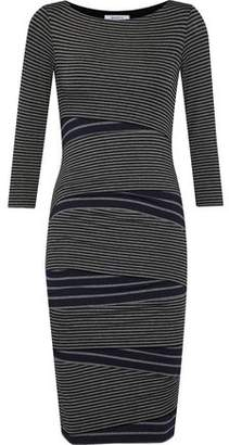 Bailey 44 Striped Stretch-Knit Dress