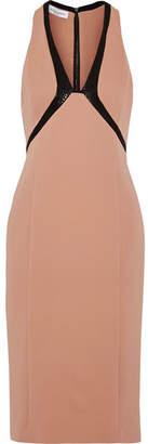 Narciso Rodriguez Sequin-embellished Paneled Stretch Silk-blend Dress
