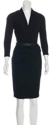 Kaufman Franco KAUFMANFRANCO Belted Knee-Length Dress
