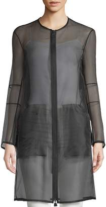 Akris Women's Deidra Silk-Blend Sheer Jacket