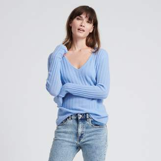 Naadam Cashmere Scoop Sweater French Blue