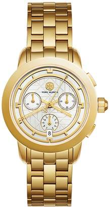 Tory Burch TORY WATCH, GOLD-TONE/IVORY CHRONOGRAPH, 37MM