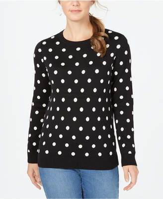 Charter Club Patterned Crew-Neck Sweater