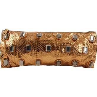Prada Gold Python Clutch Bag
