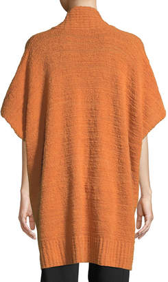 eskandar Shawl-Collar Open-Front Long Cashmere Tabard Cardigan