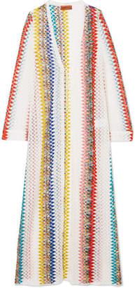 Missoni Mare Donna Crochet-knit Robe - White