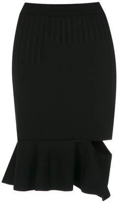 Gloria Coelho flared hem knit skirt