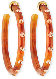 BaubleBar Teryn Resin & Crystal Hoop Earrings