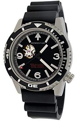 Momentum Men's Japanese Automatic Stainless Steel and Rubber Diving Watch