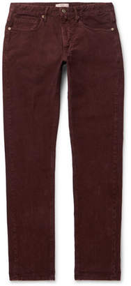Incotex Slim-Fit Stretch-Cotton Corduroy Trousers - Men - Burgundy