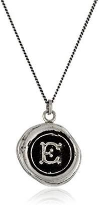 "Pyrrha talisman"" Sterling Letter W Necklace"