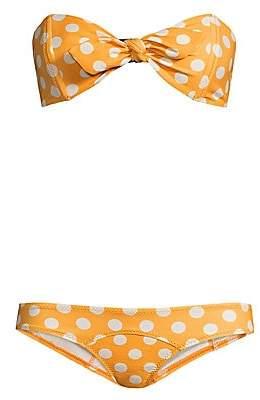 Lisa Marie Fernandez Women's Crepe Polka Dot Bikini Set