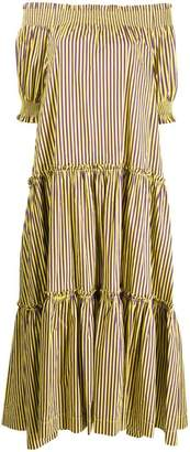 P.A.R.O.S.H. striped long dress
