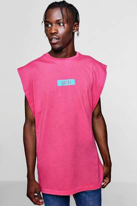 boohoo MAN Box Sleeveless T-Shirt With Drop Armhole
