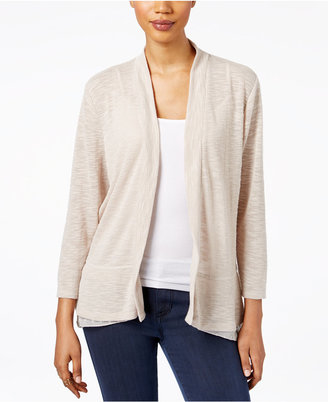 Style & Co Open-Front Chiffon-Hem Cardigan, Only at Macy's $49.50 thestylecure.com